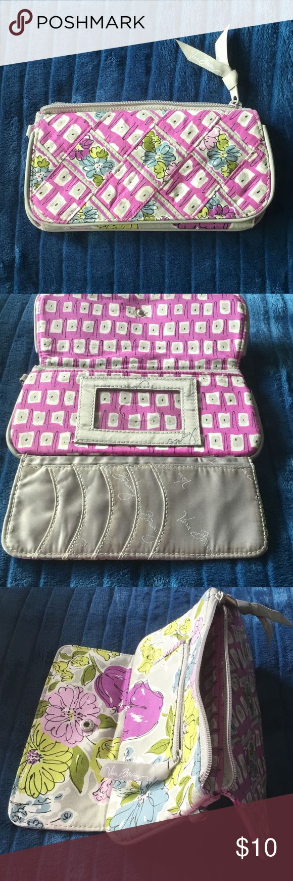 "VERA BRDLEY  wallet.  Like new EUC.  Smoke and pet free home bundle up and make fantastic discount purse measures 8"" x 4""please check out my other vera Bradley wristlet pocketbooks while it's in Perseus thank you Vera Bradley Accessories"