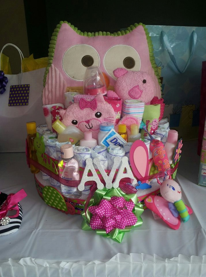 Owl+Diaper+Cake/+Personalized+by+RiddleMeThisDesigns+on+Etsy,+$135.00