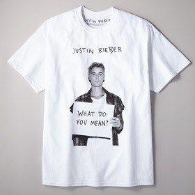 ジャスティンビーバーの公式ライセンスTシャツ登場