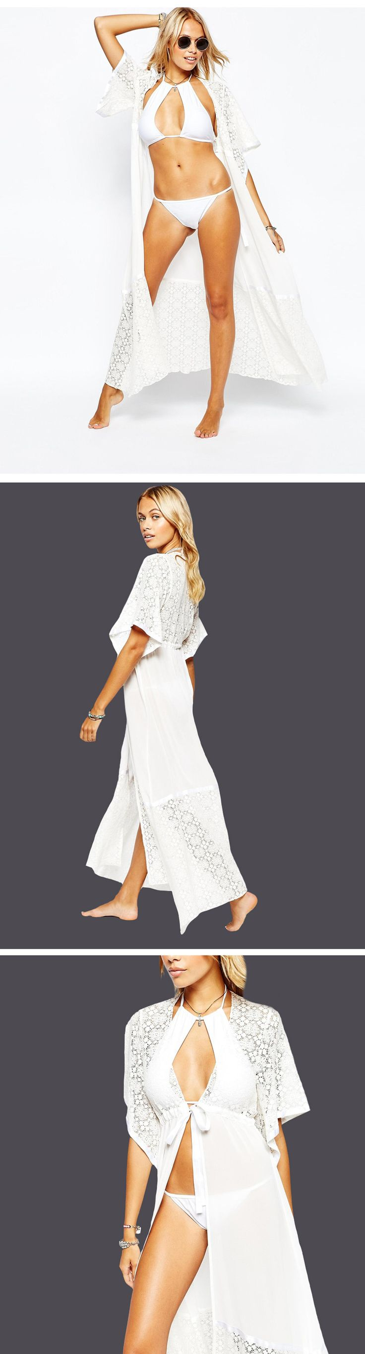 Новые Европейские и Американские шифон кружева dress sexy dress праздник солнцезащитный крем пляжная одежда женщин солнцезащитный крем блузка купить на AliExpress