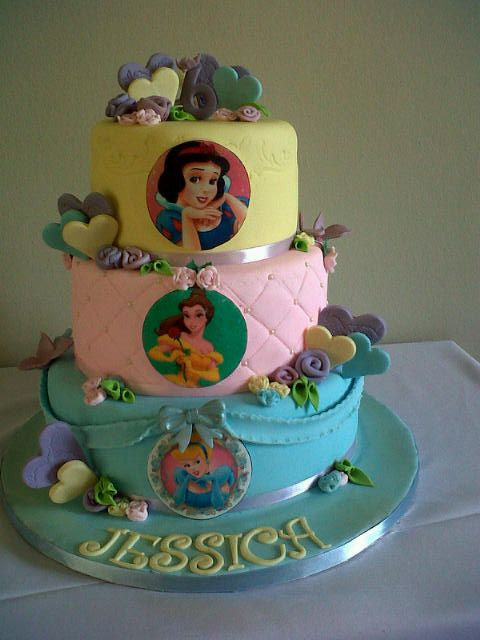 This is the prettiest Princess cake. This took a few hours, but loved doing this one....