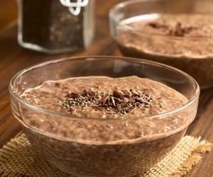 Čokoládový chia pudding