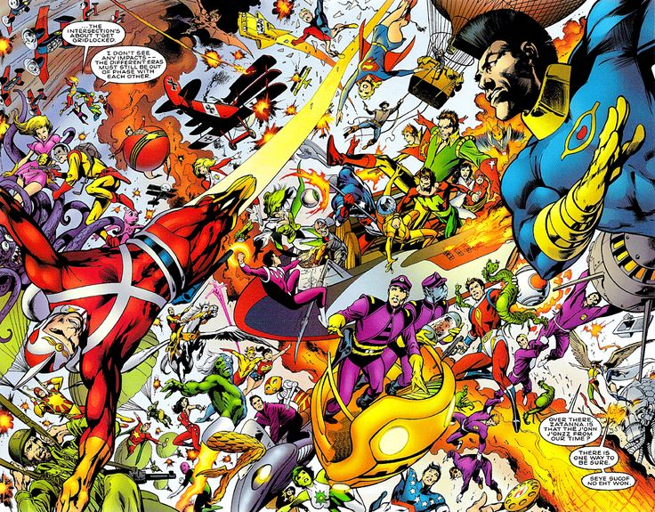 Almost everyone DC (including the kitchen sink, lower right) by Alan Davis