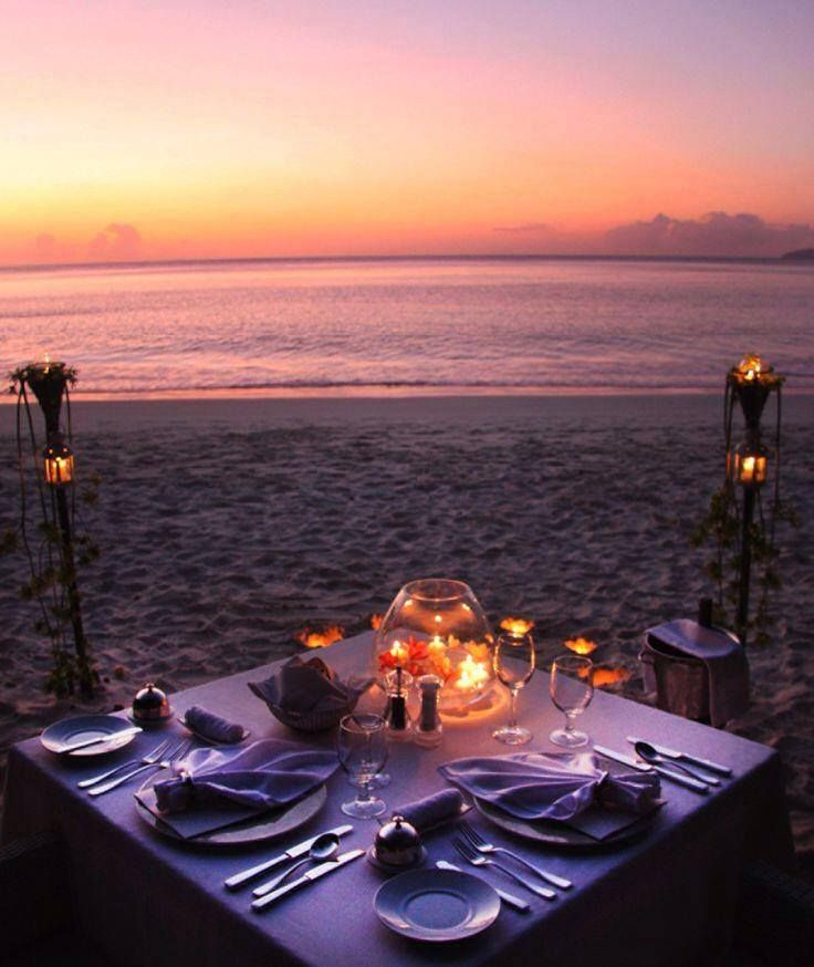 Dinner and Sunset