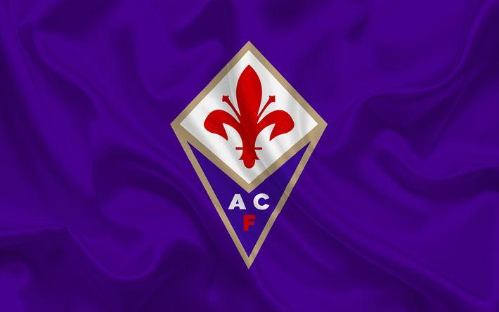 Télécharger fonds d'écran La Fiorentina, club de Football, l'emblème, le logo, de l'Italie, de Florence, de football, de soie violet, de la Serie A