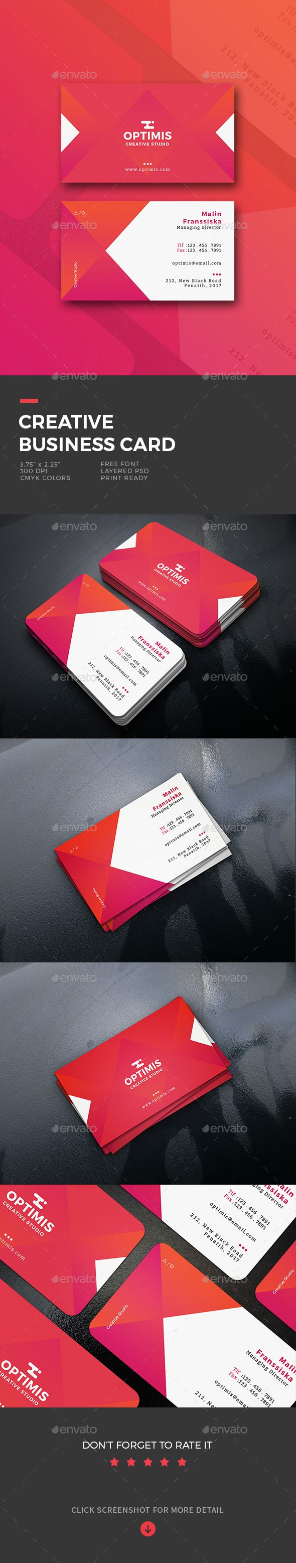 Creative #Business #Card - Business Cards Print Templates Download here: https://graphicriver.net/item/creative-business-card/19930291?ref=alena994