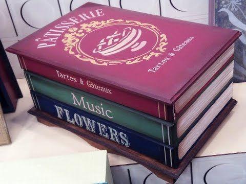 Lista de Materiais * 1 cômoda de MDF pequena com três gavetas * Estênceis OPA modelos: Patisserie, tartes e gateaux 1784 Gramofone 1779; Flowers 1442; Listra...