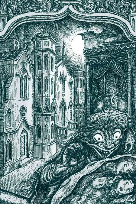 Douglas Walters: Illustration for Ghost Stories by M.R.James Douglas R. Shrewsbury