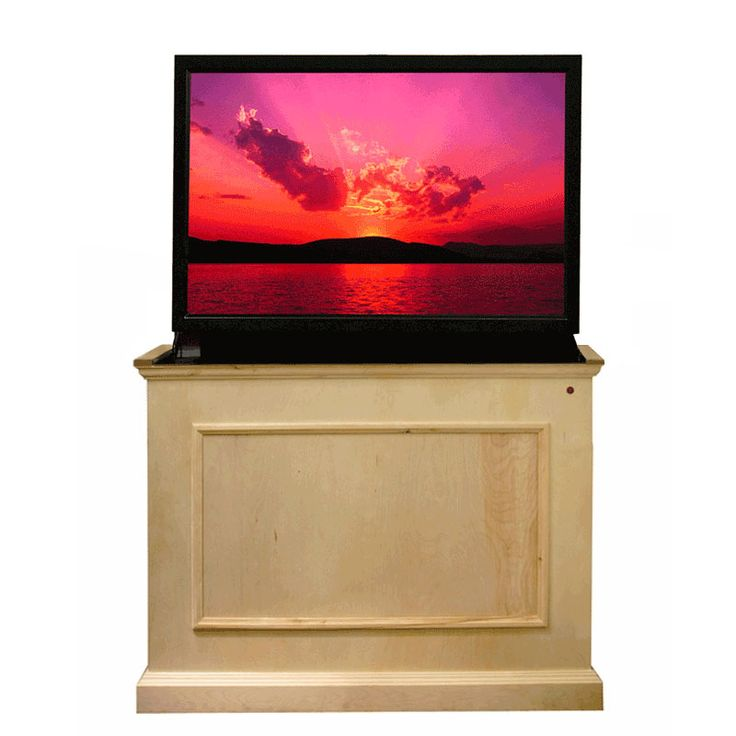 touchstone elevate end of bed or anyroom theater lift cabinet for inch screens