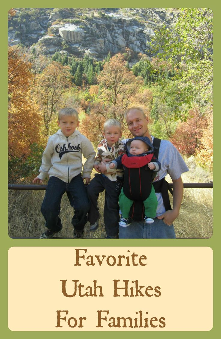 """Live in Utah? Love to hike with the fam? Here's a list of """"Favorite Utah Hikes for Families"""" in Northern Utah."""