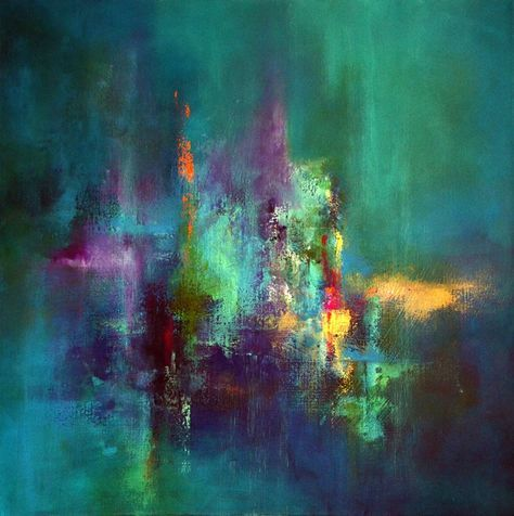 Jaanika Talts | Let It Rain, Acrylic on canvas, 60 x 60 cm http://www.newirishart.com/irish-artists/jaanika-talts-artist.htm