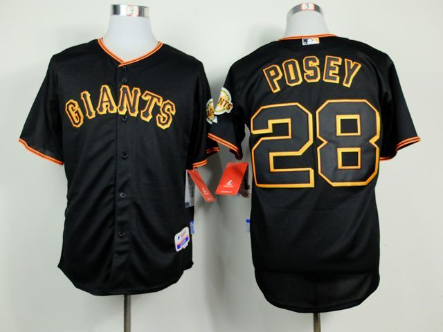 417f2d31ba9 MLB San Francisco Giants 28 Buster Posey Black 2014 Jerseys