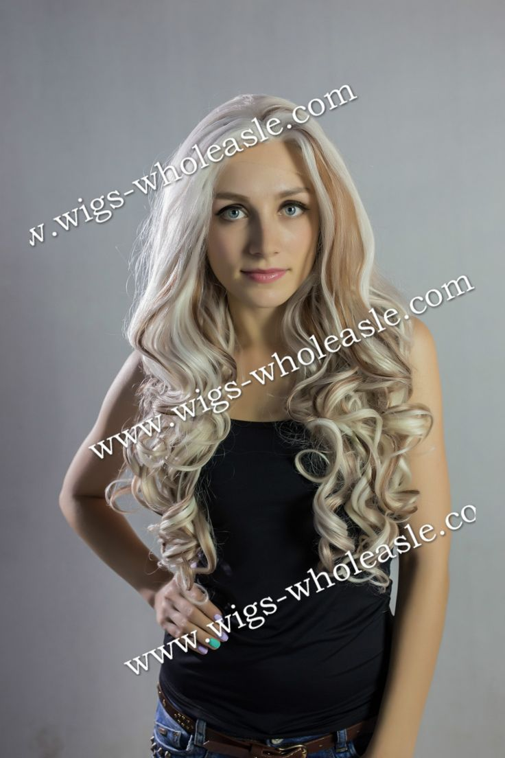 53.00$  Buy here  - Carefree Hairstyle With Specially Layered Long Wavy Synthetic Lace Front Highlight Wig