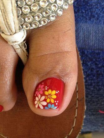 uñas decoradas para pies - Buscar con Google