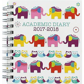 Buy Mini Elephants And Owls Academic Diary 2017-2018 - Week To View  online from The Works. Visit now to browse our huge range of products at great prices.