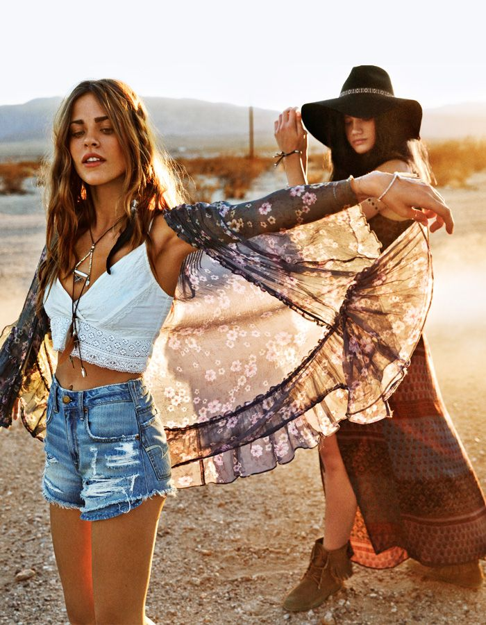 The AEO Embroidered Crop Top paired with a Floral Kimono will give you festival-inspired edge this season. #AEOSTYLE