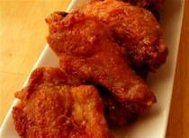 Buffalo chicken wing sauce recipe. A little too spicy for me, but my Mr LOVED it! He said these were the best wings he had ever had! (I used Tapatio instead LA hot sauce)