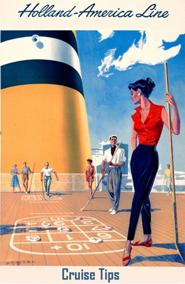 Cruise Tips - vintage ad creative commons - CLICK TO READ: http://boomerinas.com/2012/07/tips-for-cruising/