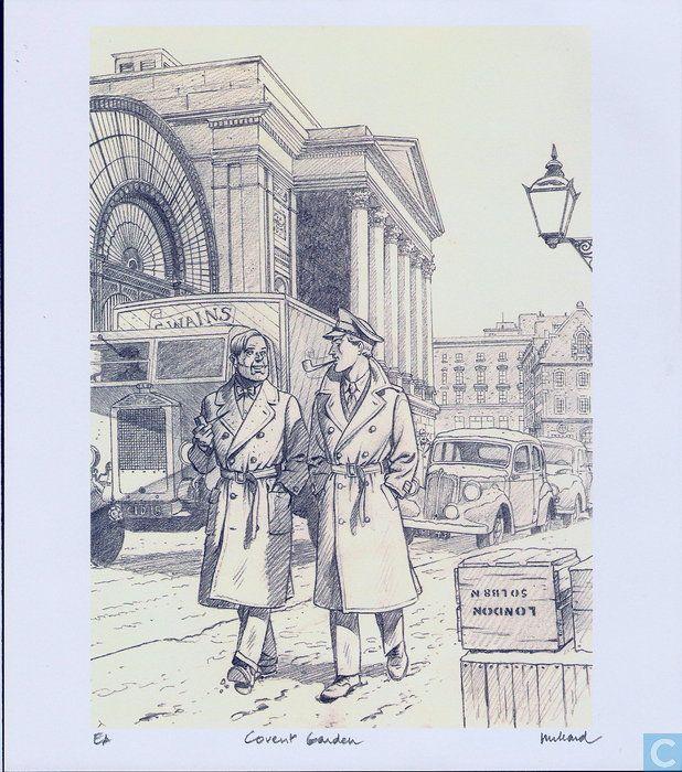 Ex-Libris BD et tirages - Tiré à part - Blake et Mortimer
