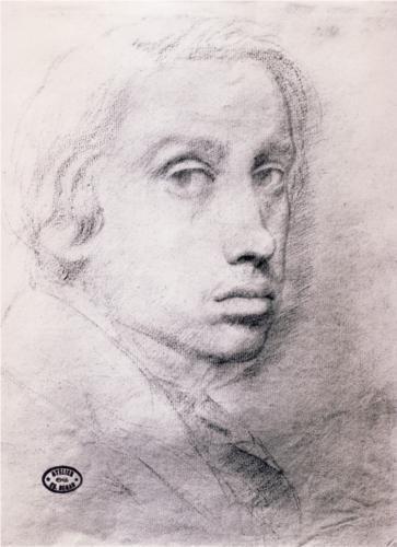 Study for the Self Portrait - Edgar Degas