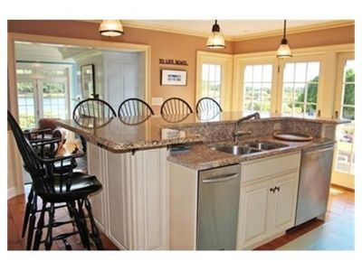 Country kitchen islands with seating large kitchen - Kitchen island with seating for 6 ...
