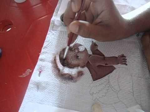 Pintura em Fralda Iniciante (fundo) - YouTube