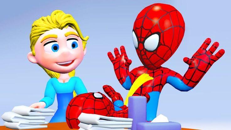 SPIDERBABY needs to PEE on SPIDERMAN ★ Elsa Baby Poo Fart Prank Superher...