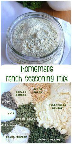 HOMEMADE RANCH SEASONING MIX |  www.togetherasfamily.com