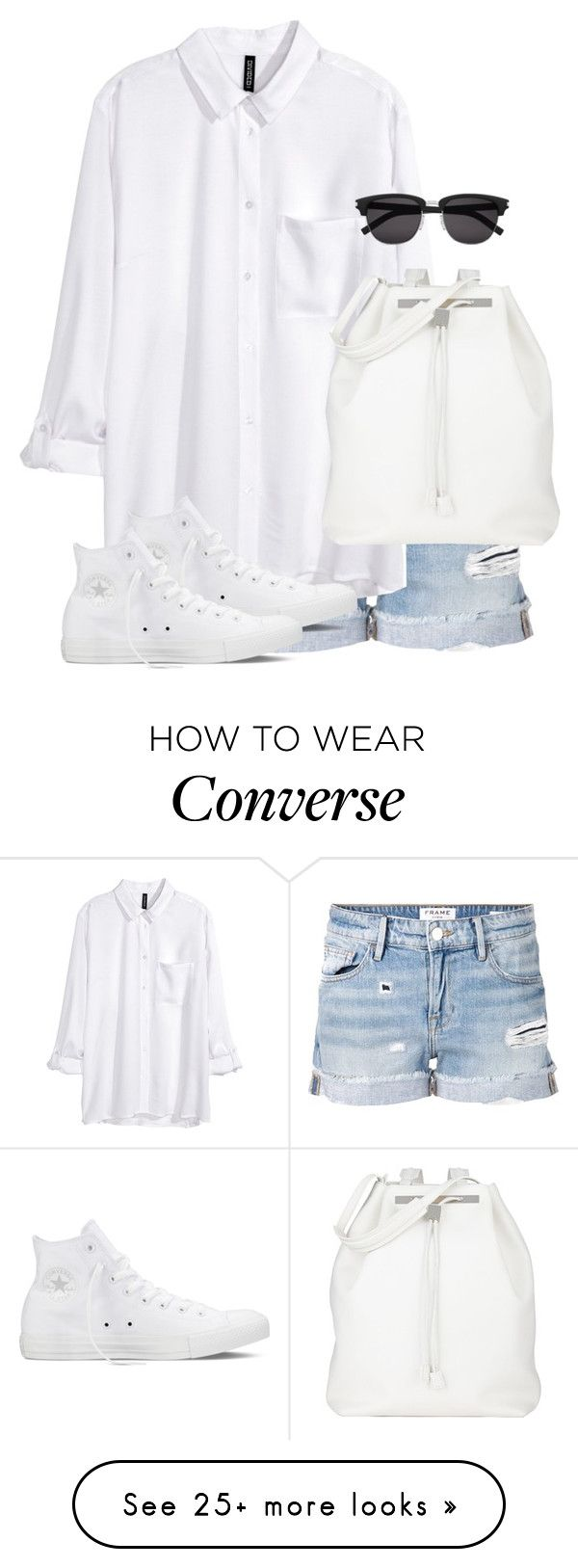 """Untitled #9815"" by alexsrogers on Polyvore featuring мода, Frame Denim, H&M, Converse, Yves Saint Laurent и The Row"