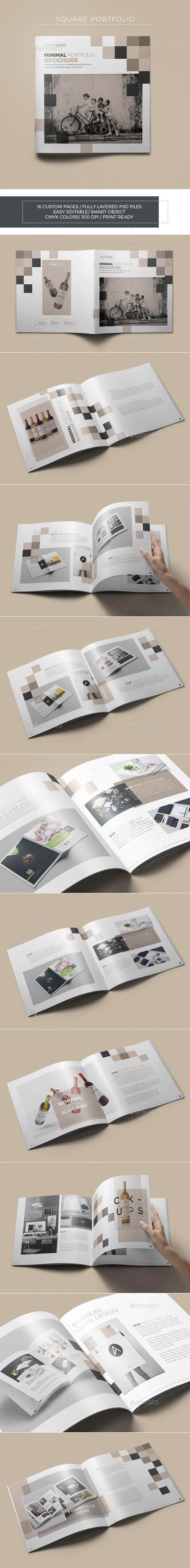 Minimal Square Portfolio  — PSD Template #elegant #a4 • Download ➝ https://graphicriver.net/item/minimal-square-portfolio/18047173?ref=pxcr