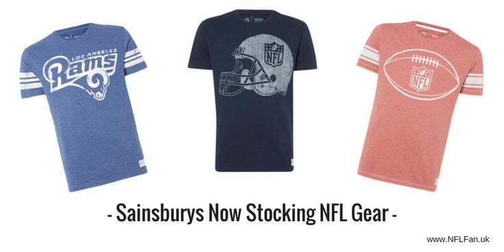 NFL T-shirts now being stocked by a major UK supermarket, Sainsbury's, can only be good for the NFL and UK-based NFL fans, right?