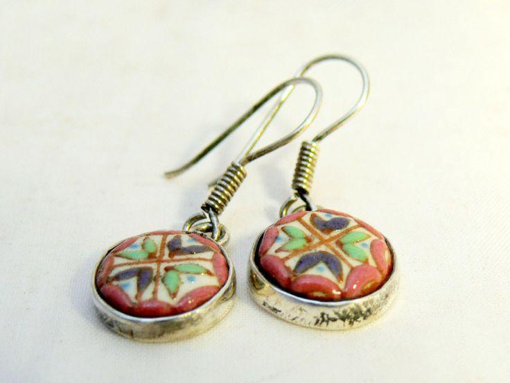 Boucles d'oreille * argent et céramique * Mexique de ModaFrida - Mode mexicaine sur DaWanda.com