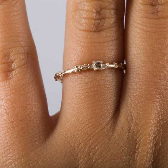 Gold and Champagne Diamond Engagement Ring by MichelleOhJewellery, £260.00