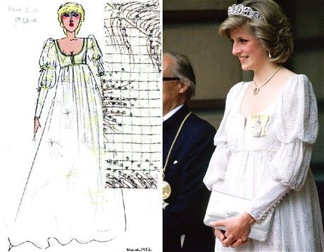 A maternity gown she wore while expecting Prince Harry (David Sassoon/Tim Graham)