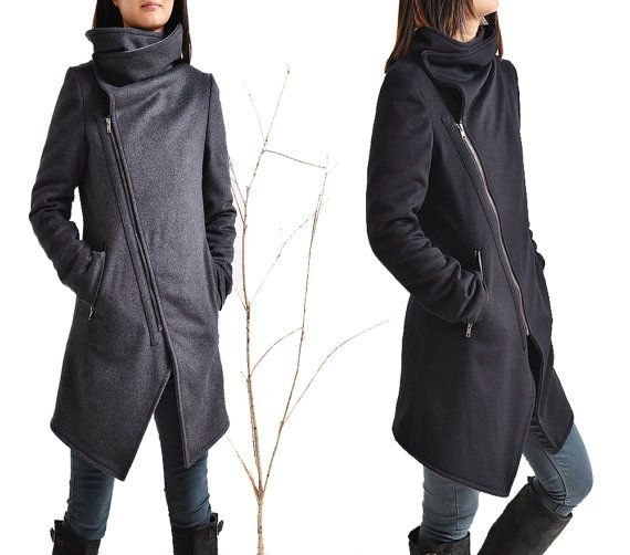 Black Swan asymmetrical quilted cashmere wool by idea2lifestyle
