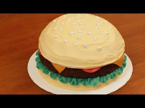 HOW TO MAKE A HAMBURGER CAKE - NERDY NUMMIES - YouTube