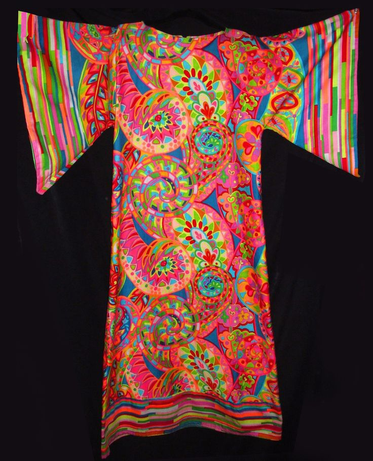 Sensational Vintage Period Hippie Psychedelic Kaftan | Collectors Weekly