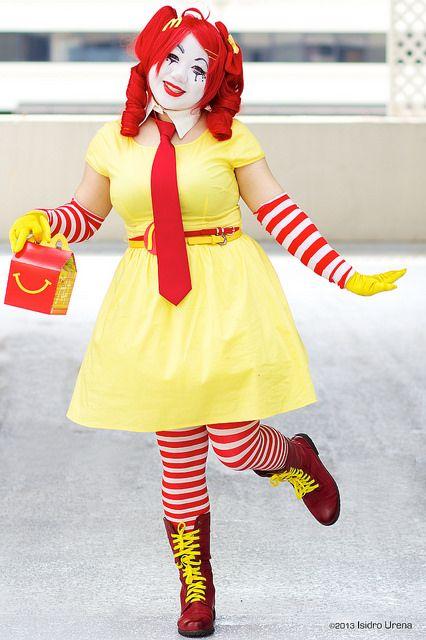 Traje Ronald McDonald chica - Karanva