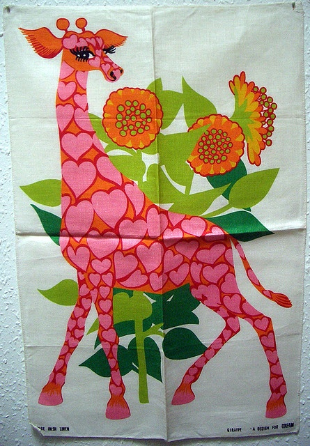 Oxfam Giraffe tea towel by TinTrunk, via Flickr