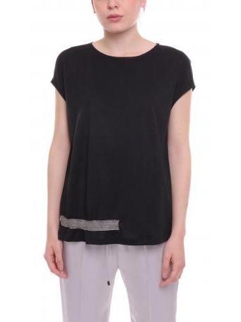 Fabiana Filippi - Black linen and silk top