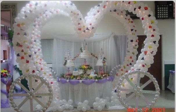 Balloon arch princess carriage balloons pinterest - Decoracion unas para boda ...