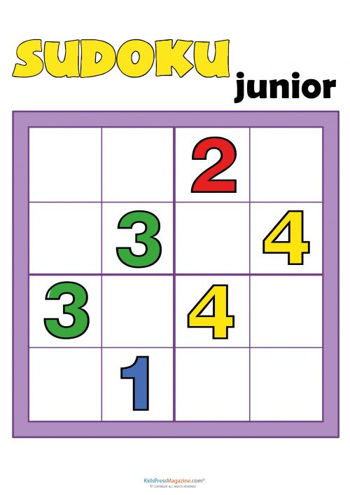 Sudoku for Kids – Numbers #2   #Sudoku #4x4 #kids #version #games #critical #thinking