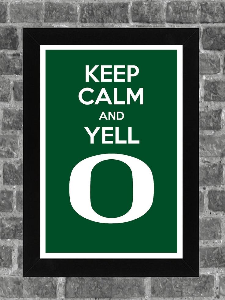 Keep Calm Oregon Ducks