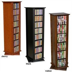 "51"" Tall Two Sided Revolving Media DVD Storage Tower"