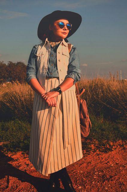 🌾 Boho vibes, bohemian outfit, hat, free spirit.