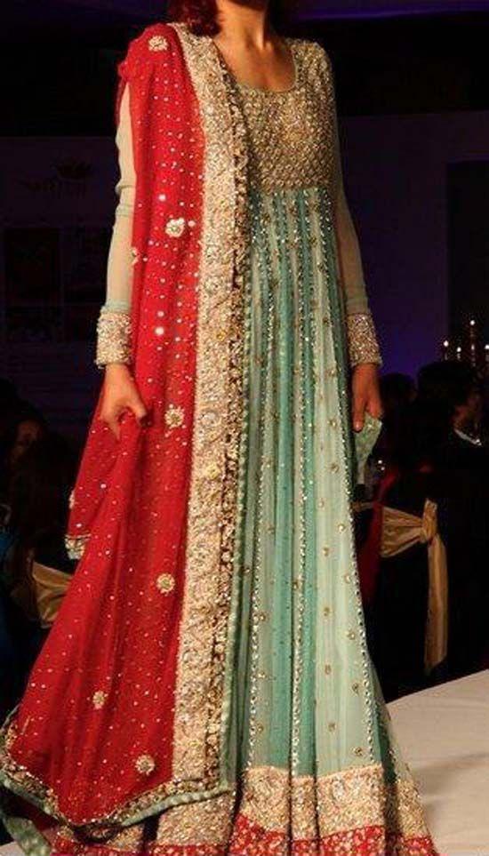 Pakistani Wedding Dresses   Latest Pakistani Bridal Lehanga Dresses 2013 006