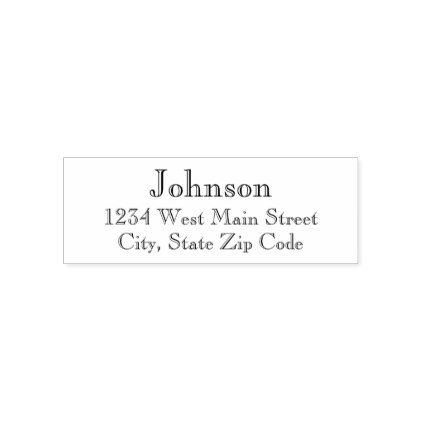 Simple Return Address Label Self-inking Stamp  $16.60  by PD_Graphics  - cyo customize personalize unique diy idea