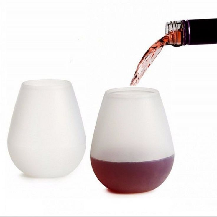 2PCS Unbreakable Silicone Wine Glasses