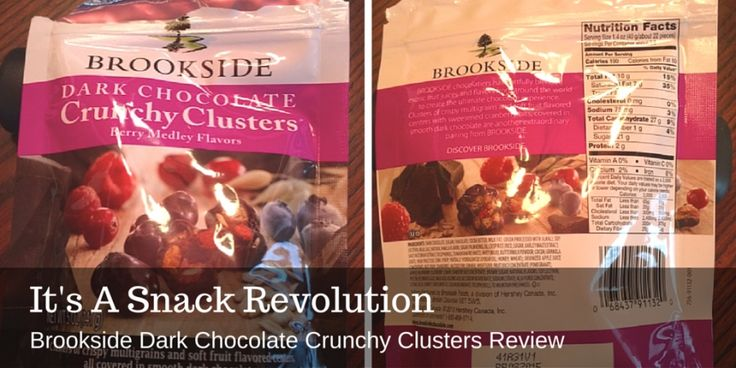 It's A Snack Revolution: Brookside Dark Chocolate Crunch Clusters Review #WOW #ThingsWeLove
