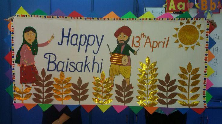 Happy baisakhi | School board decoration, Diy arts and ...